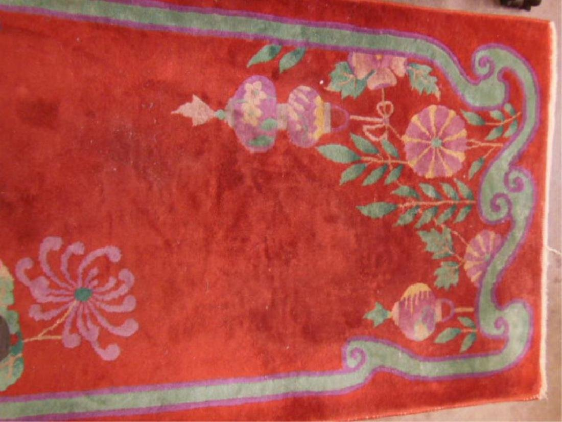 Chinese Art Deco Throw Rug - 3