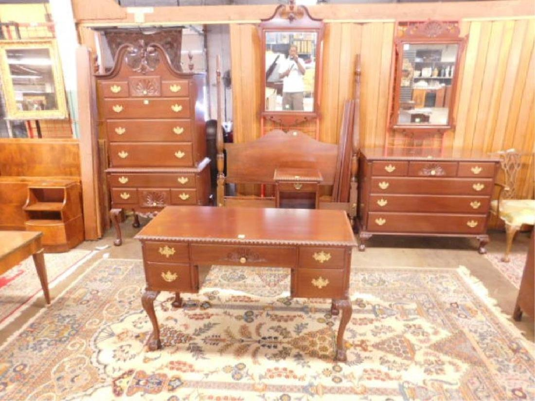 Chippendale Style 7 Pc BR Set