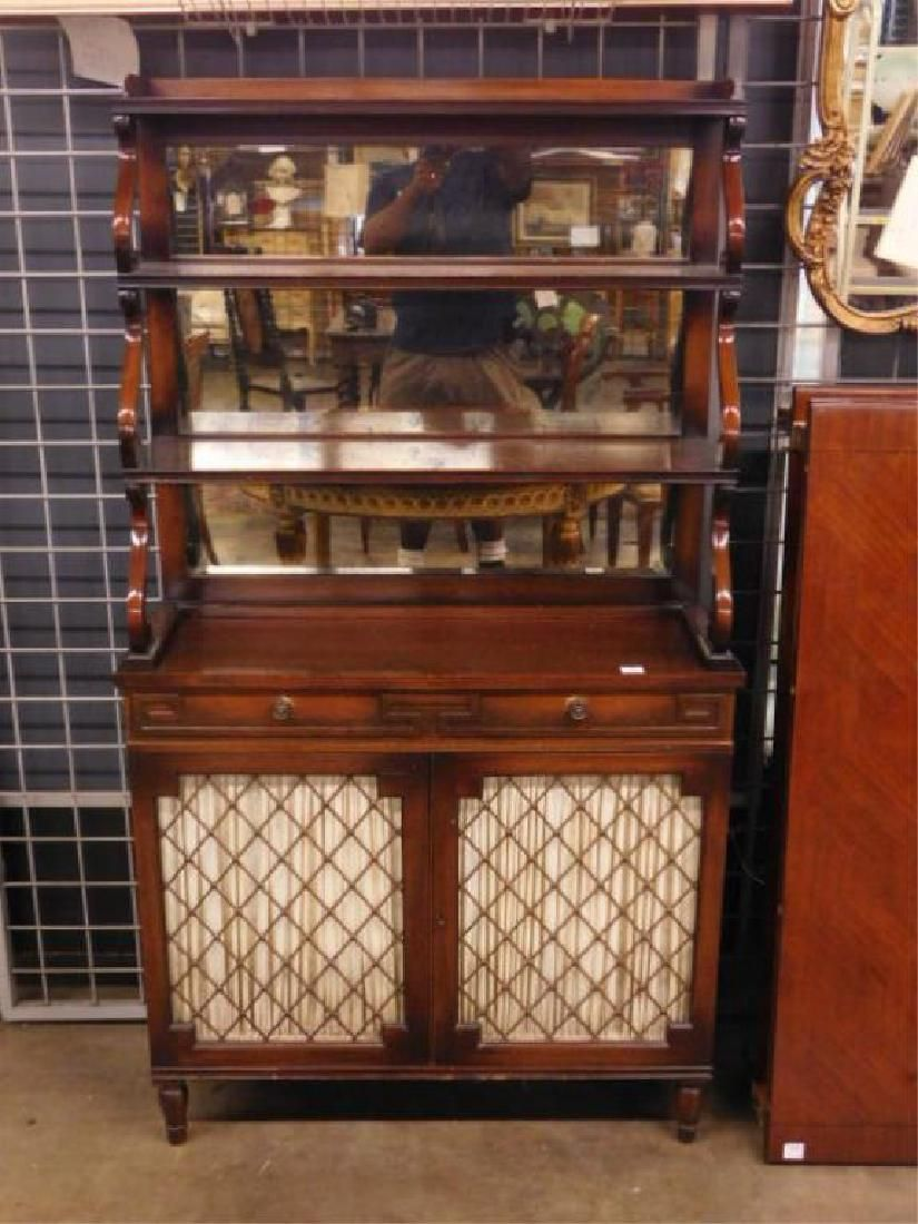 Regency Style Etergiere / Cabinet