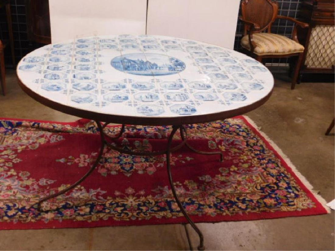 Delft Tile Top Table