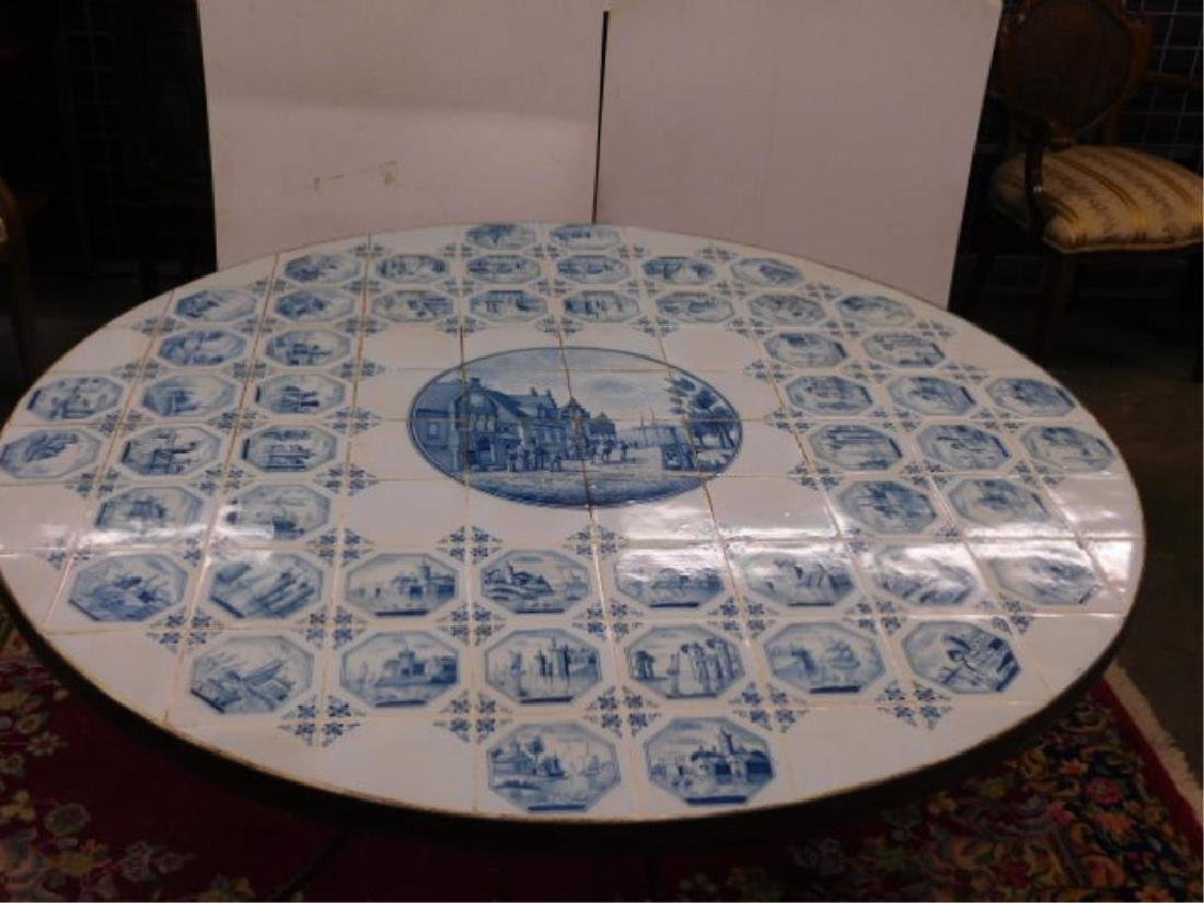 Delft Tile Top Table - 2