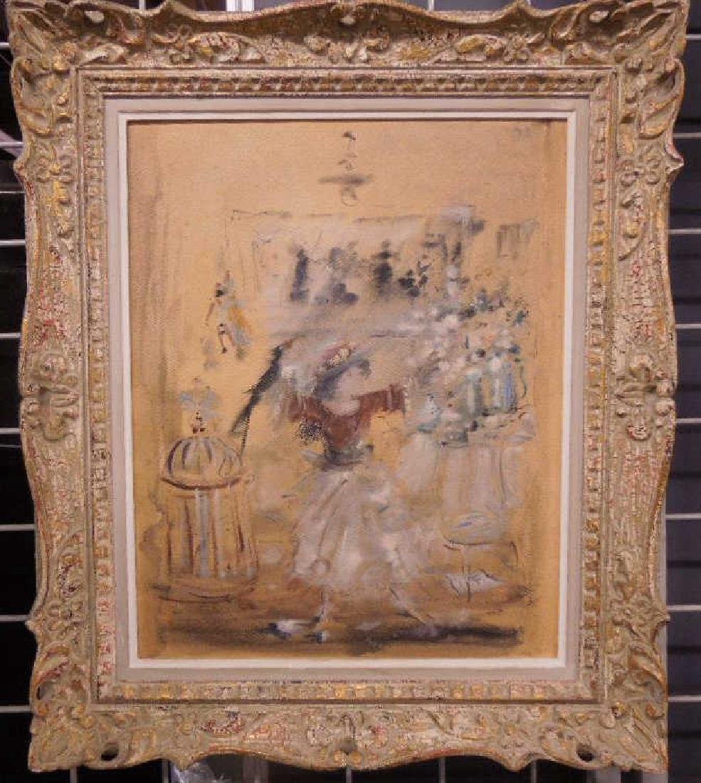 French Watercolor on Masonite