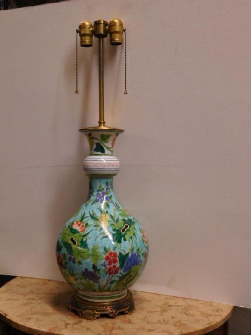 Porcelain de Paris Famille Verte Lamp