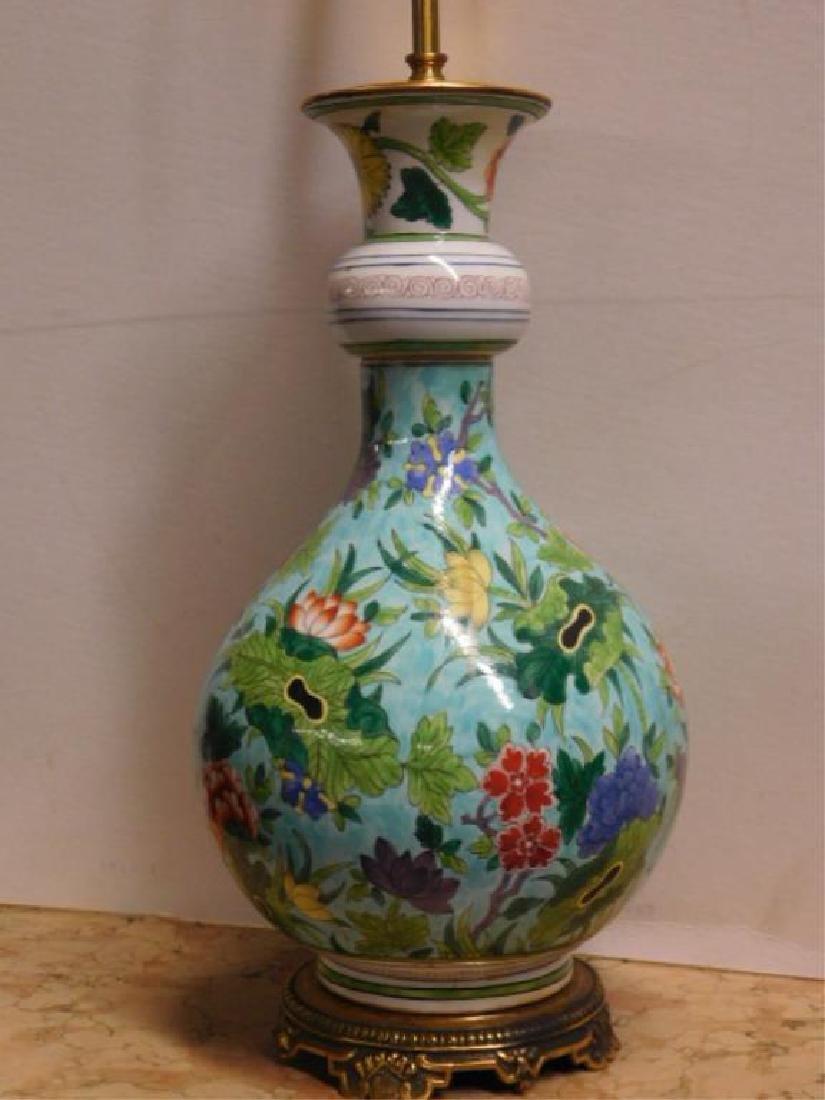 Porcelain de Paris Famille Verte Lamp - 2