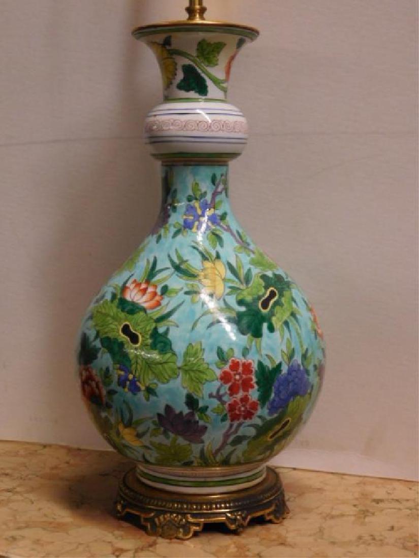 Porcelain de Paris Famille Verte Lamp - 3