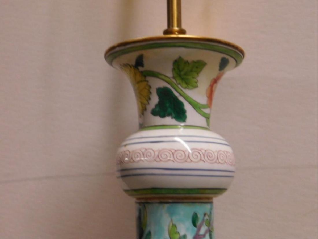 Porcelain de Paris Famille Verte Lamp - 4