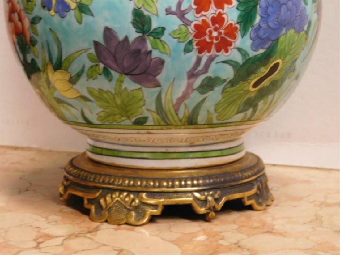 Porcelain de Paris Famille Verte Lamp - 6