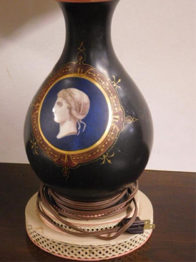 Pr Old Paris Porcelain Vase / Lamps - 2