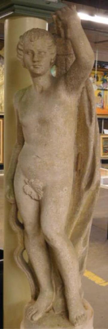Garden Classical Nude Male Figure Sculpture - 2