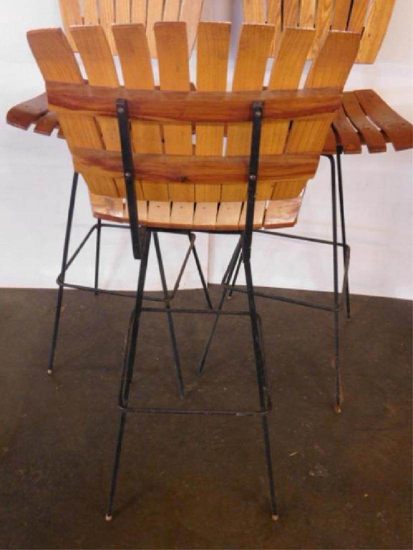 3 Mid Century Modern Bar Stools - 4