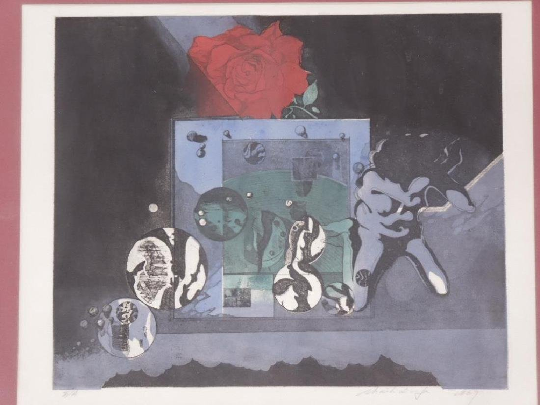 Illegibly Signed & Dated Lithograph - 2