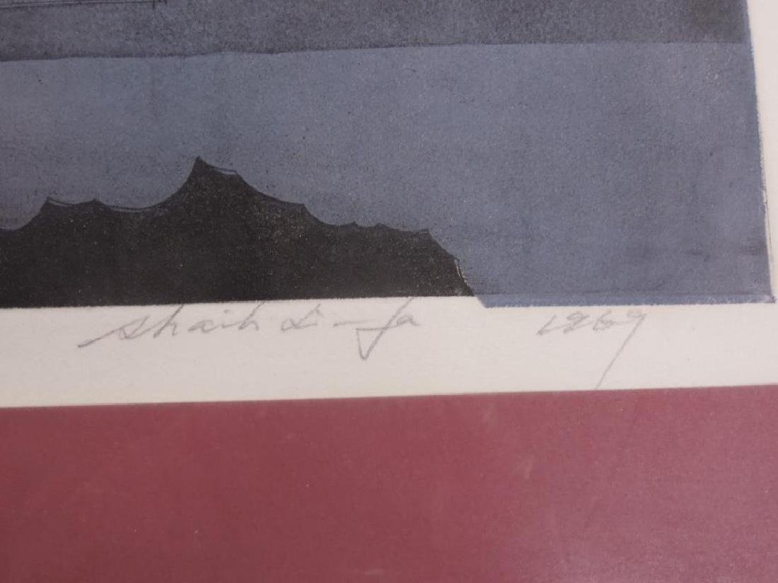 Illegibly Signed & Dated Lithograph - 7