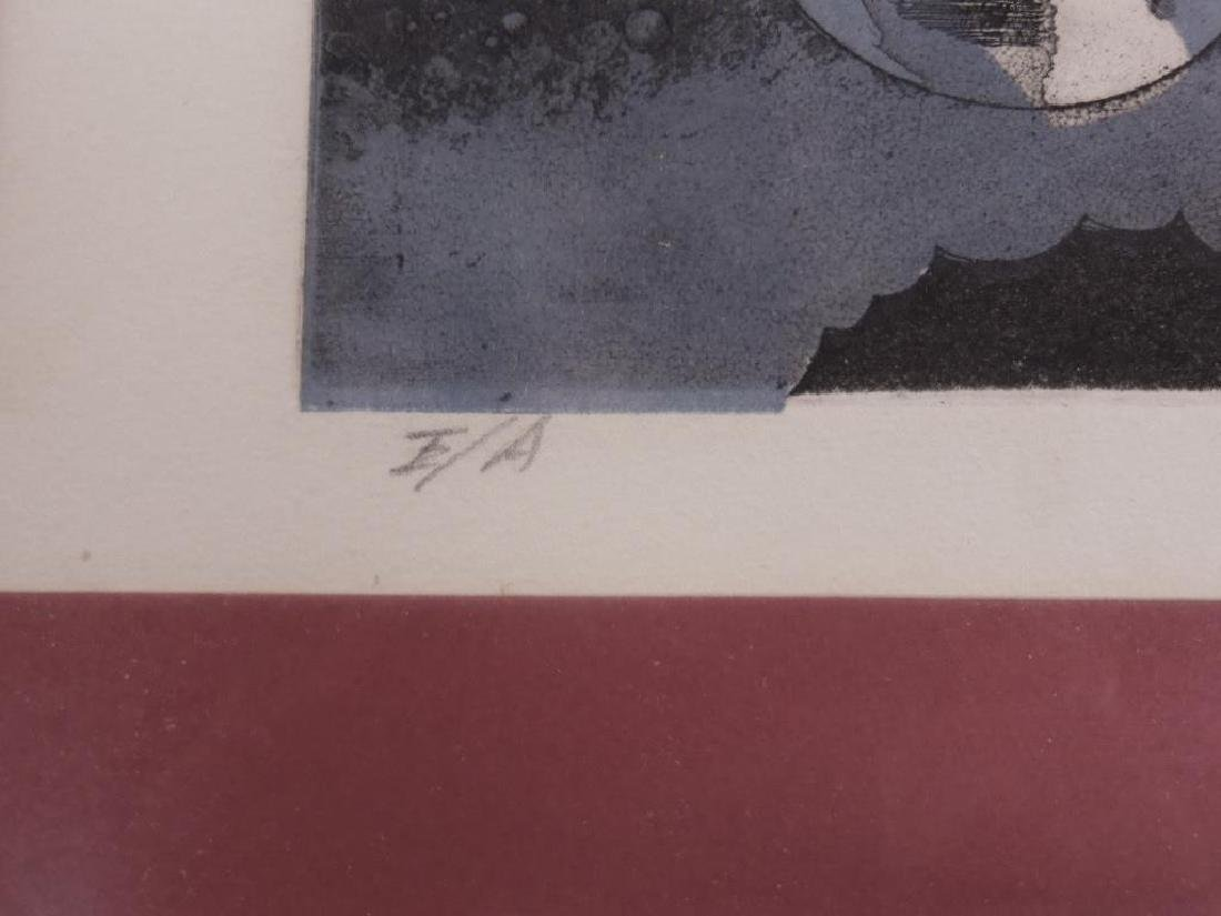 Illegibly Signed & Dated Lithograph - 8
