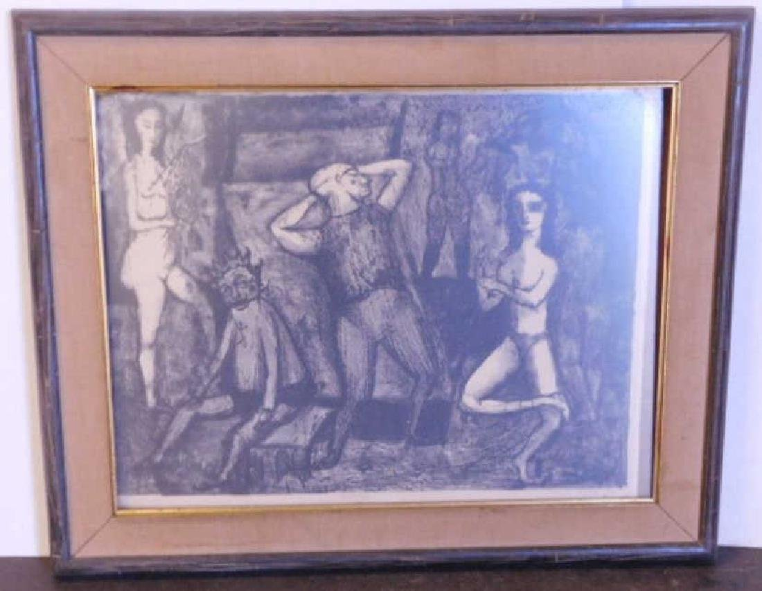 Jerome Kaplan Signed Lithograph Print
