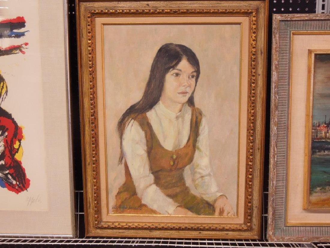 R.W. Barnett, o/c Portrait of Linda Cohen