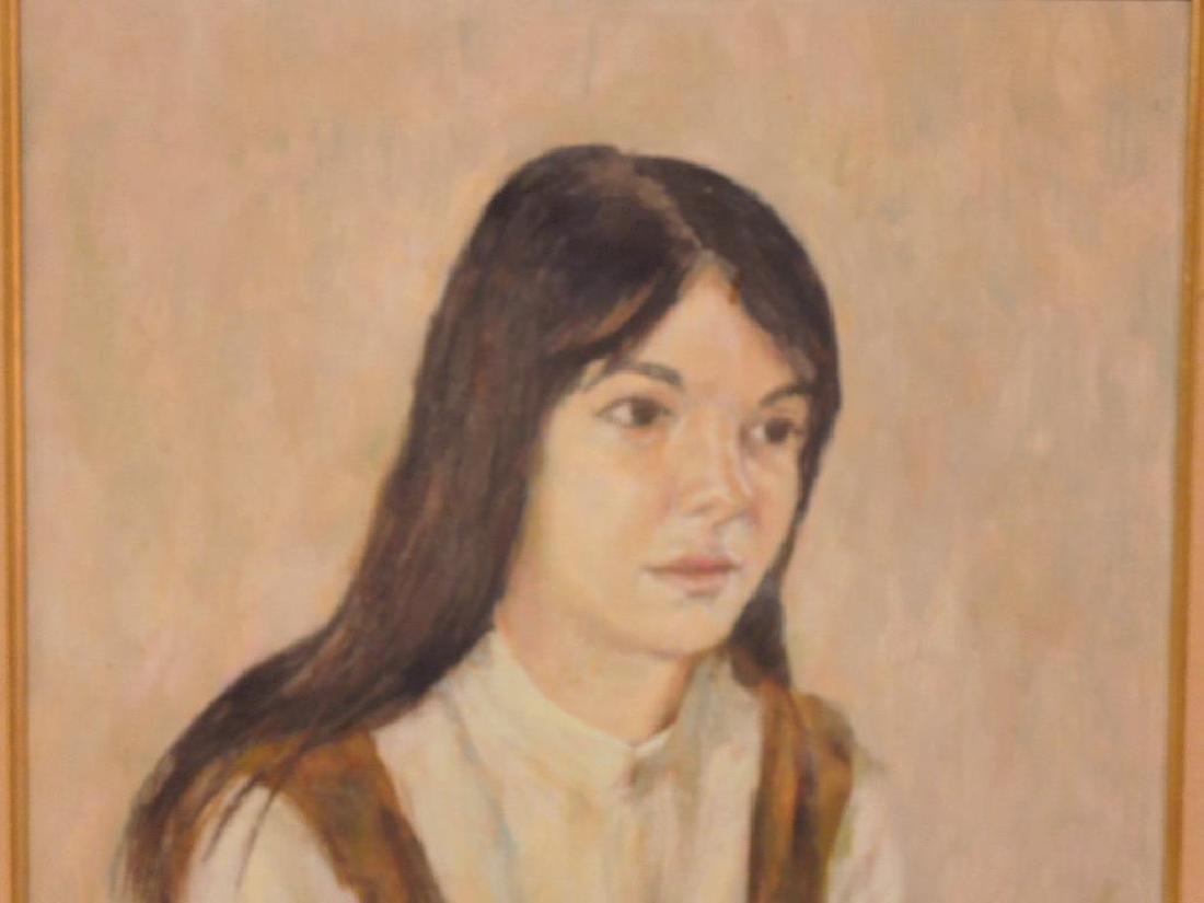 R.W. Barnett, o/c Portrait of Linda Cohen - 2