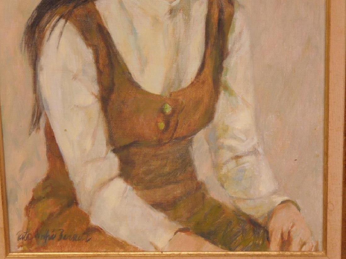 R.W. Barnett, o/c Portrait of Linda Cohen - 3