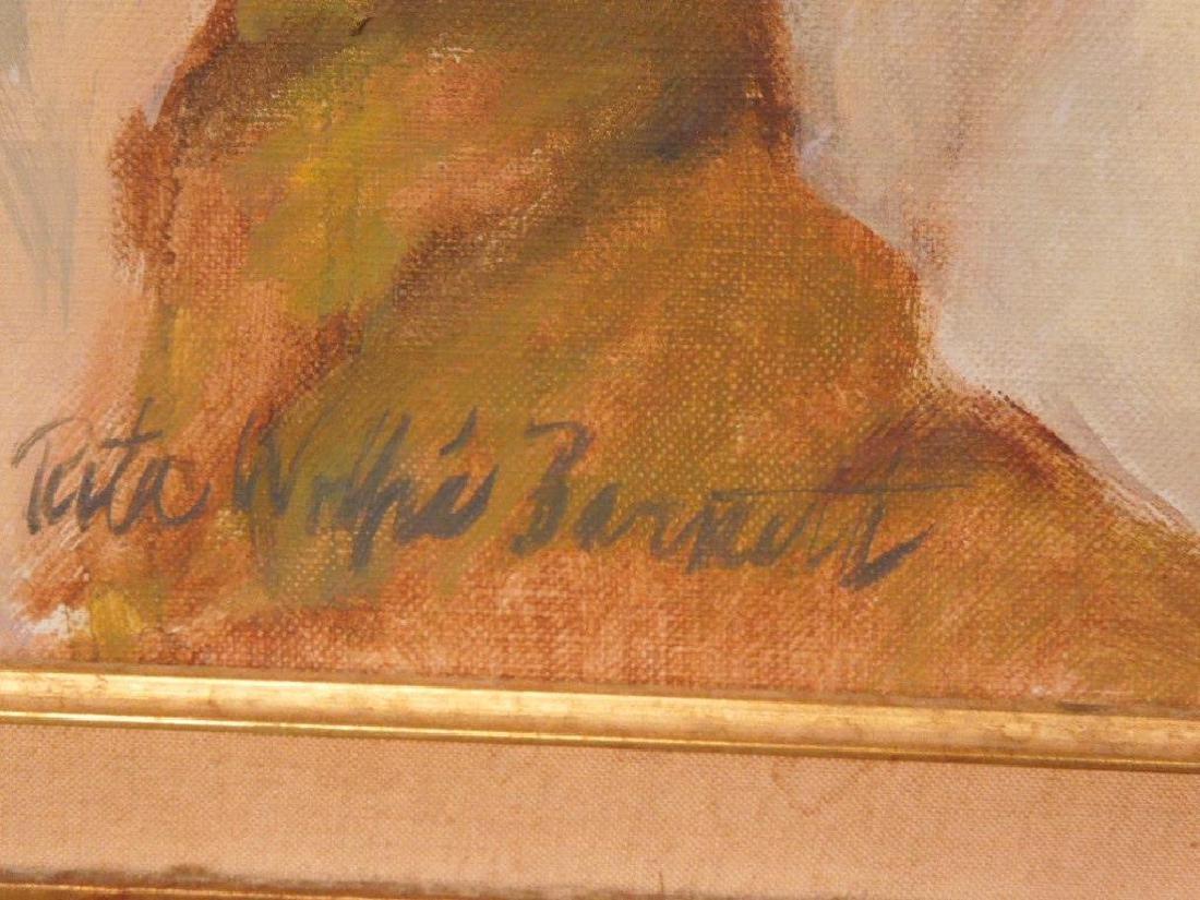 R.W. Barnett, o/c Portrait of Linda Cohen - 4