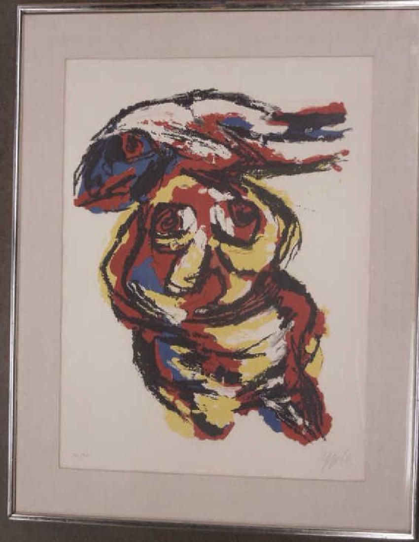 Karel Appel Signed Colored Lithograph