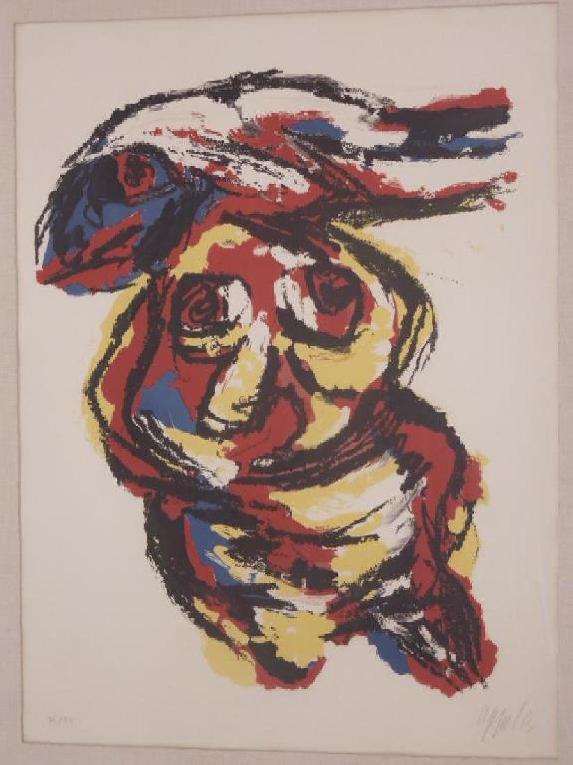 Karel Appel Signed Colored Lithograph - 2