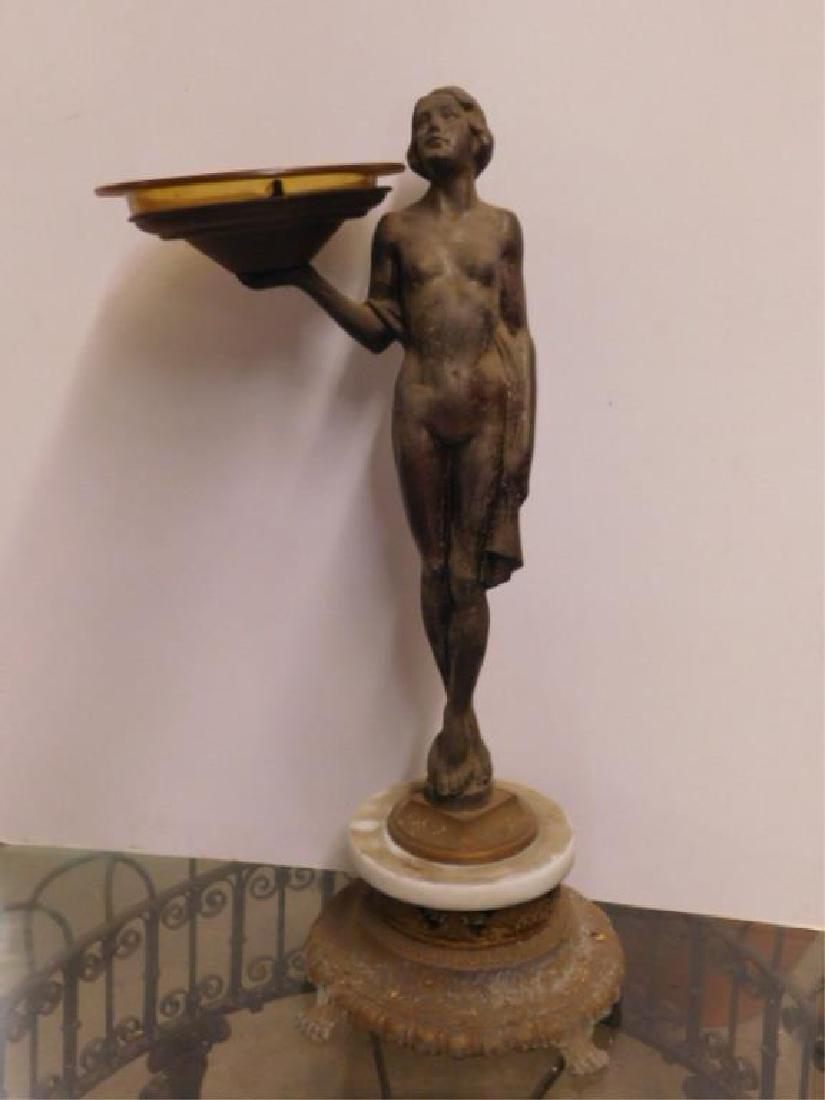 Deco Female Nude Floor Ashtray