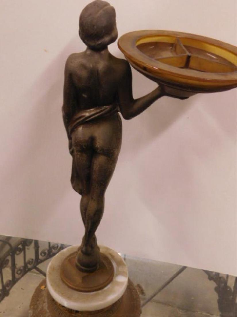 Deco Female Nude Floor Ashtray - 5