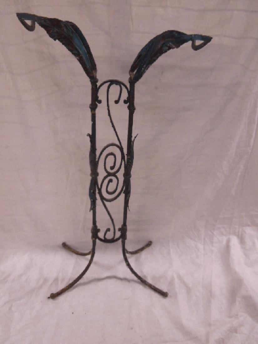 Wrought Iron Garden Fish / Plant Stand
