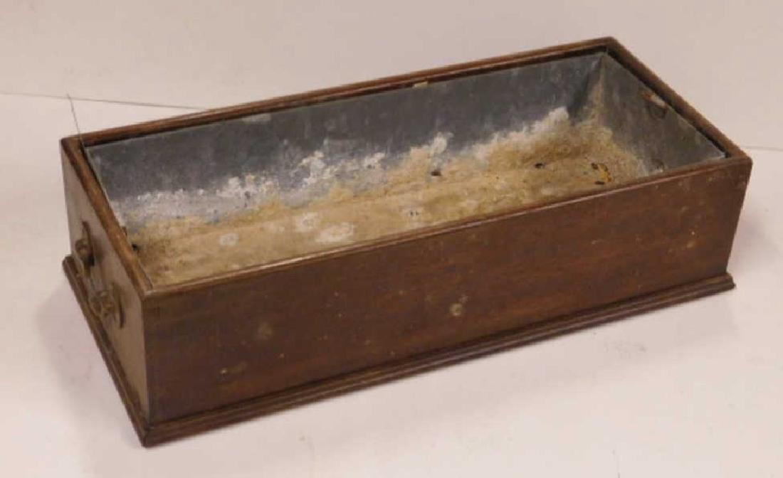 19th C. Mahogany Plant Box