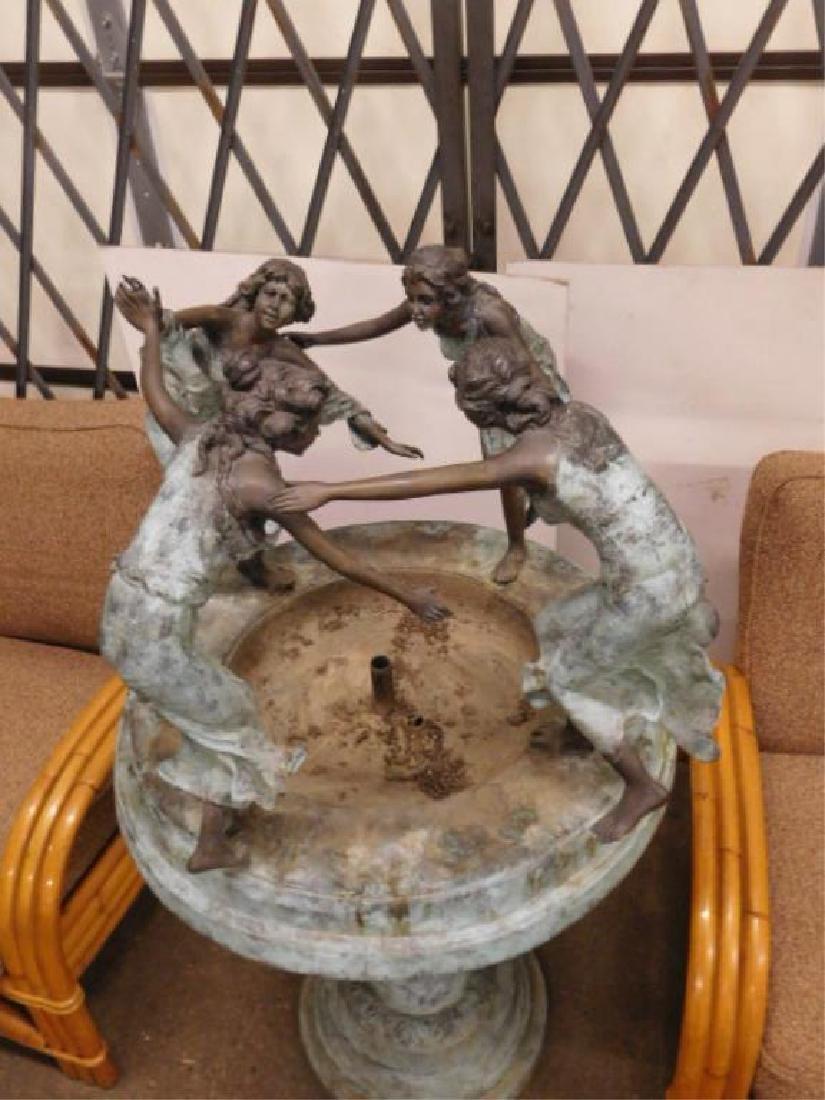Bronze Garden Fountain - 2