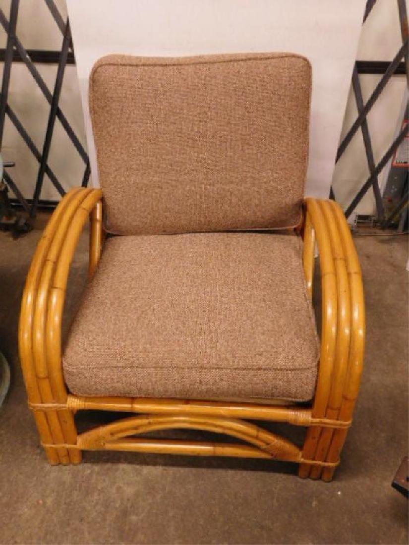 Pr Art Deco Bamboo Arm Chairs