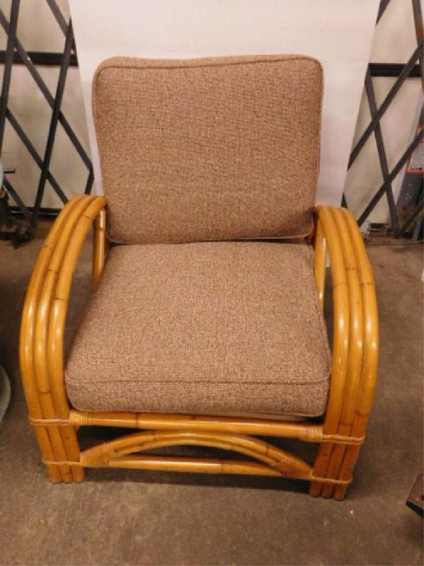 Pr Art Deco Bamboo Arm Chairs