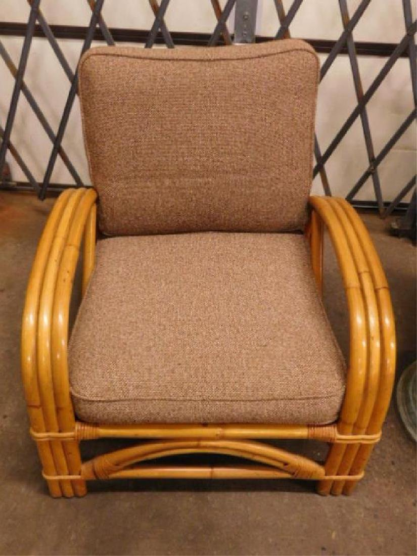 Pr Art Deco Bamboo Arm Chairs - 2