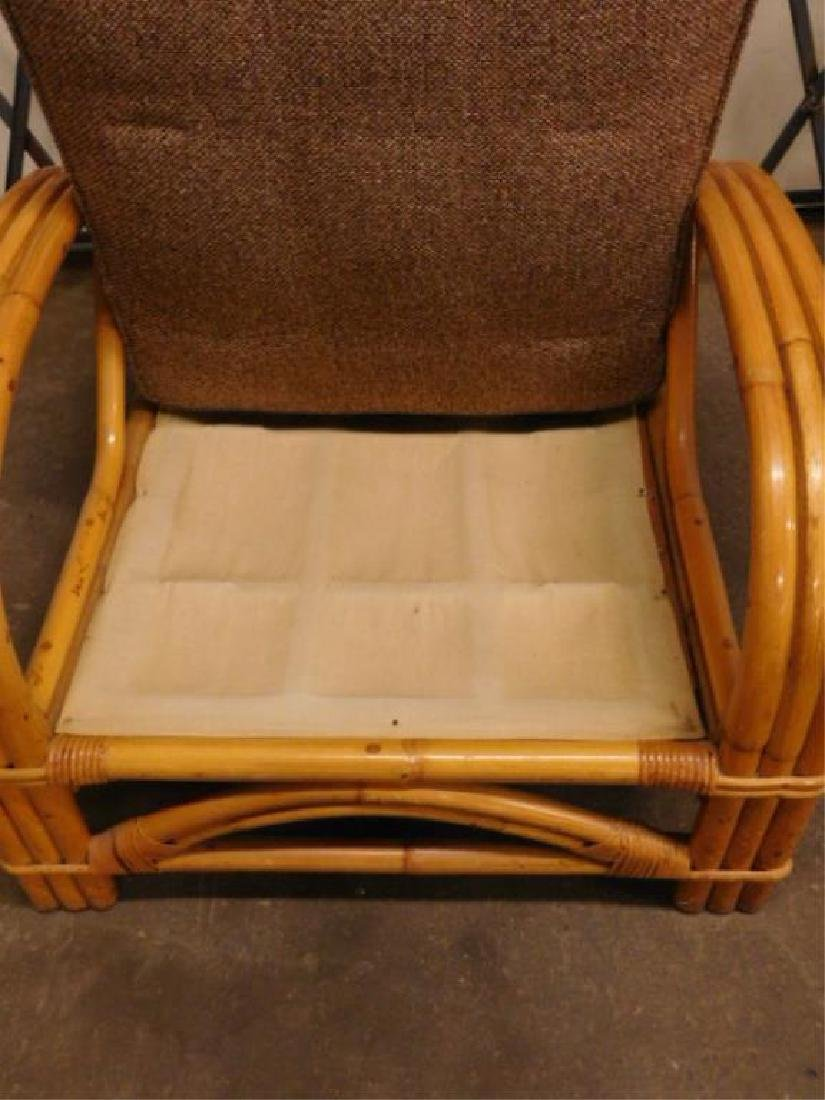 Pr Art Deco Bamboo Arm Chairs - 3