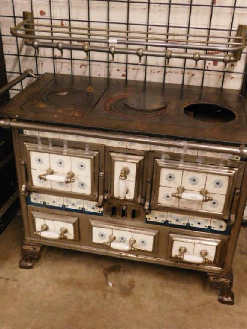 Cast Iron & Tile Stove