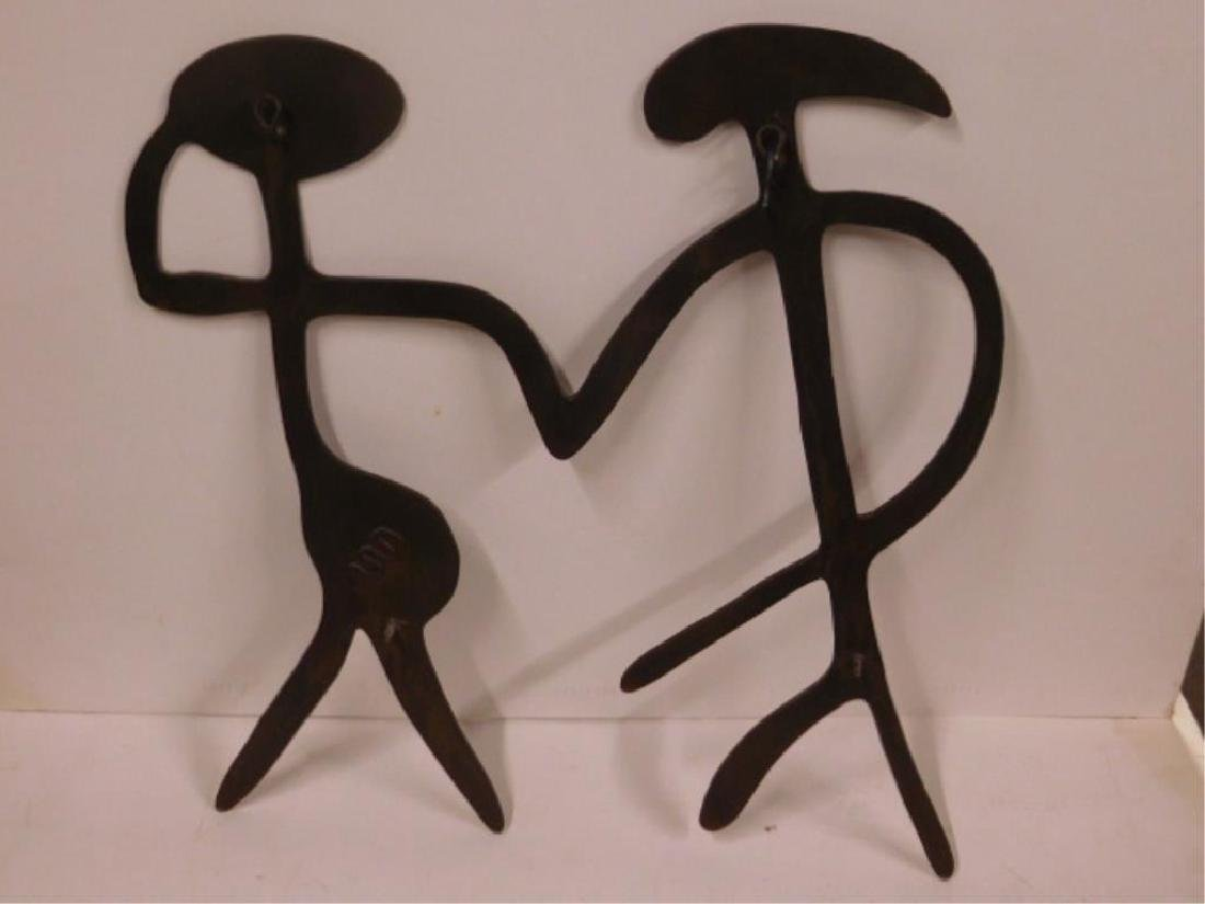 Iron Figural Wall Placque - 2