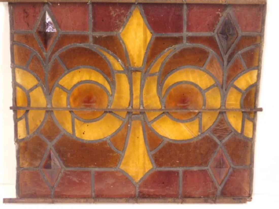 Leaded Glass Window Panel
