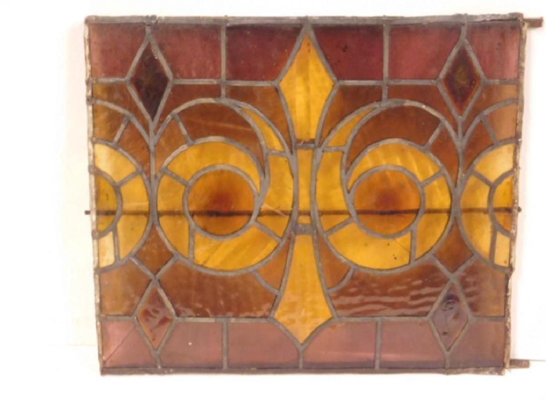 Leaded Glass Window Panel - 2
