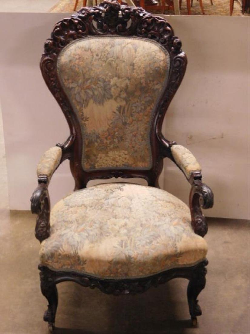 Rococo Revival Lady's Arm Chair