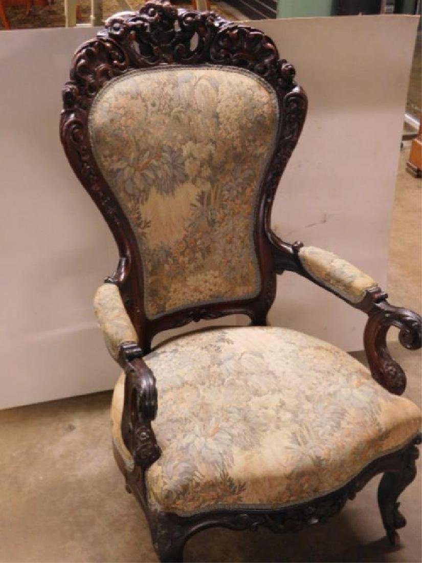 Rococo Revival Lady's Arm Chair - 2