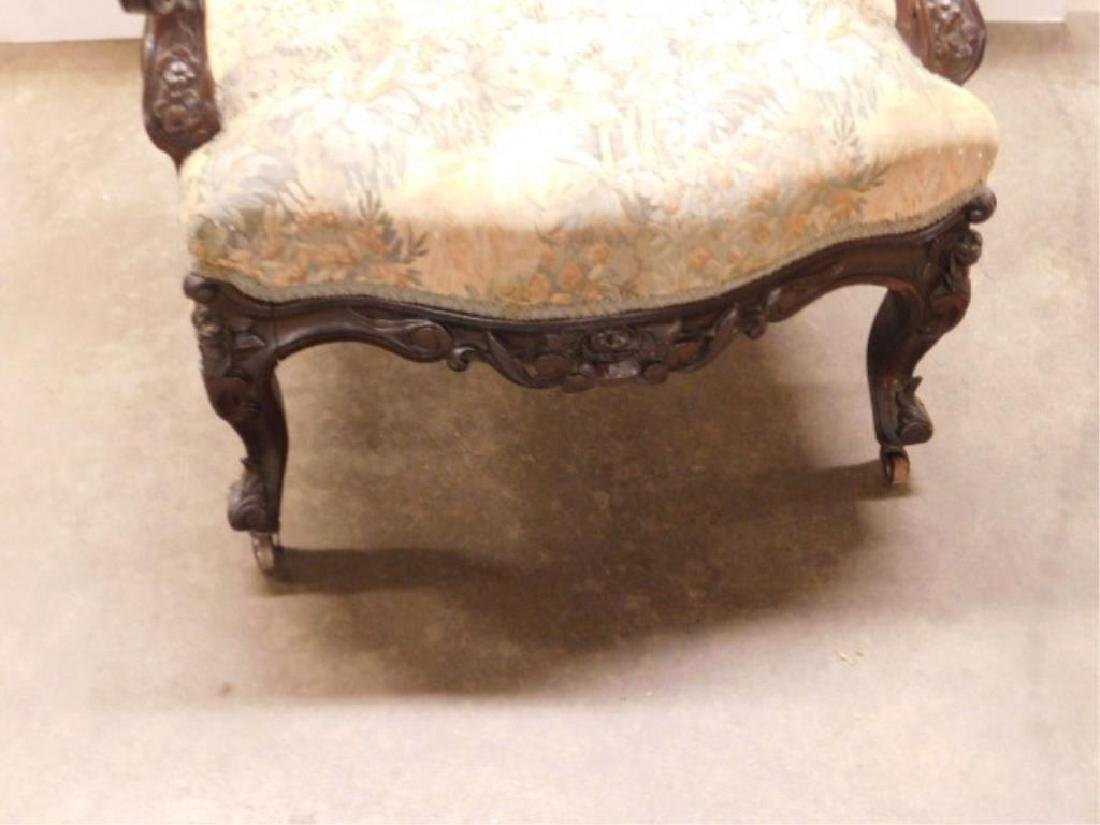 Rococo Revival Lady's Arm Chair - 3