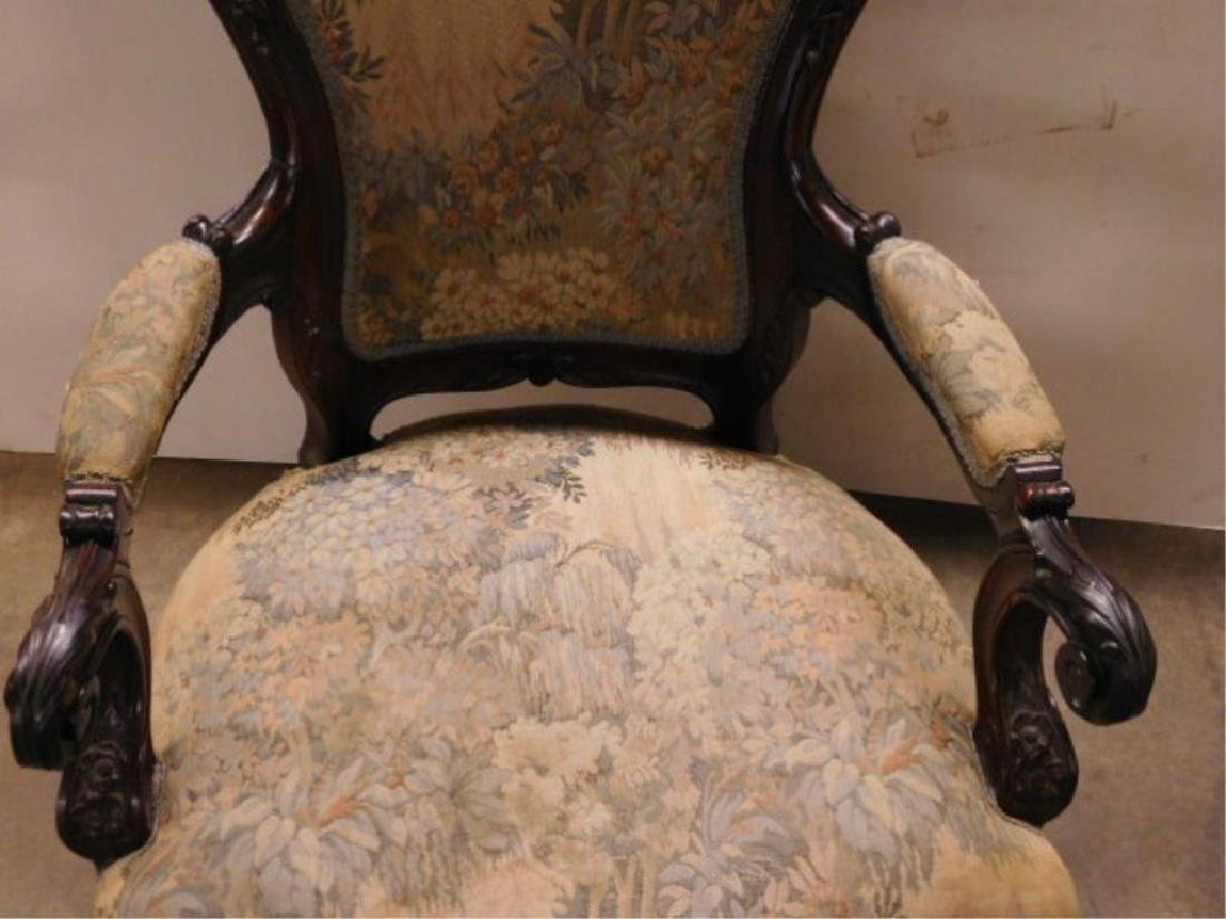 Rococo Revival Lady's Arm Chair - 4