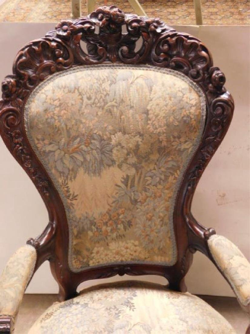 Rococo Revival Lady's Arm Chair - 5