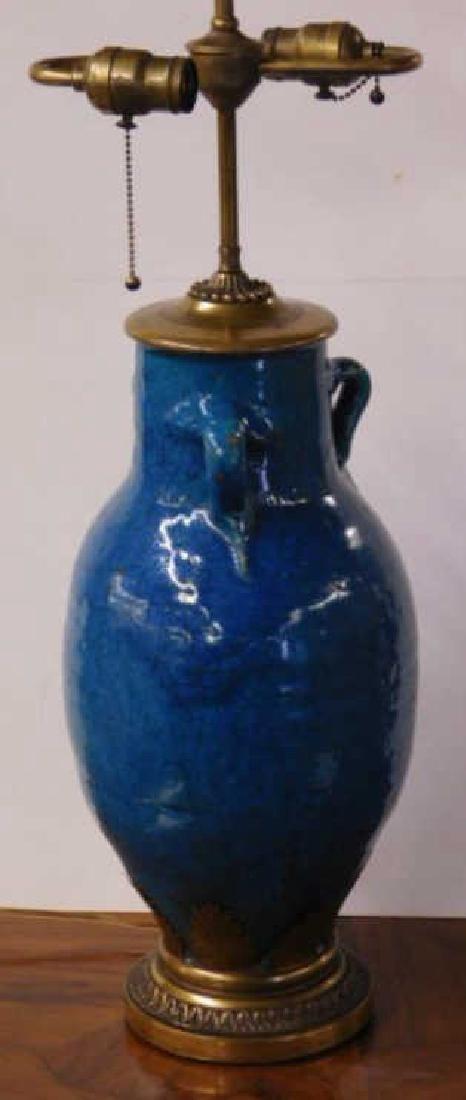 French Art Pottery Vase/Lamp