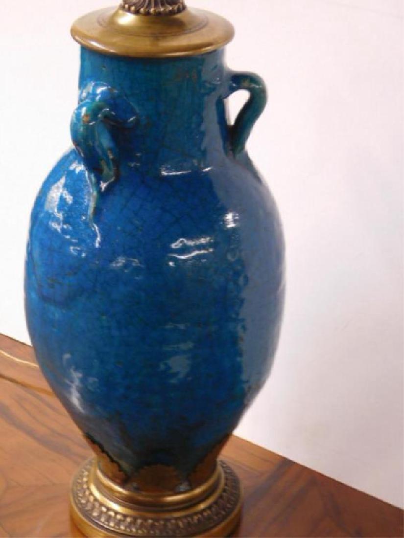 French Art Pottery Vase/Lamp - 4