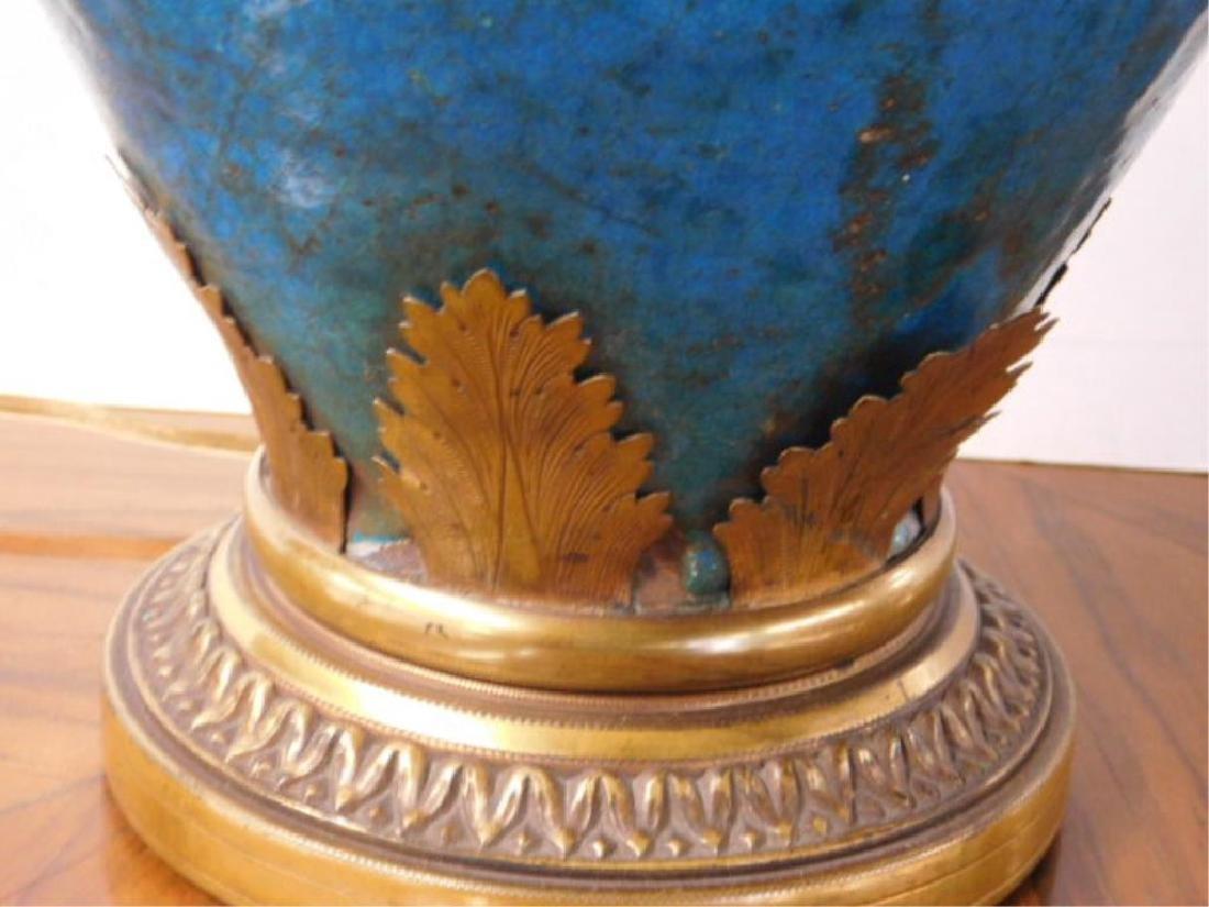 French Art Pottery Vase/Lamp - 7