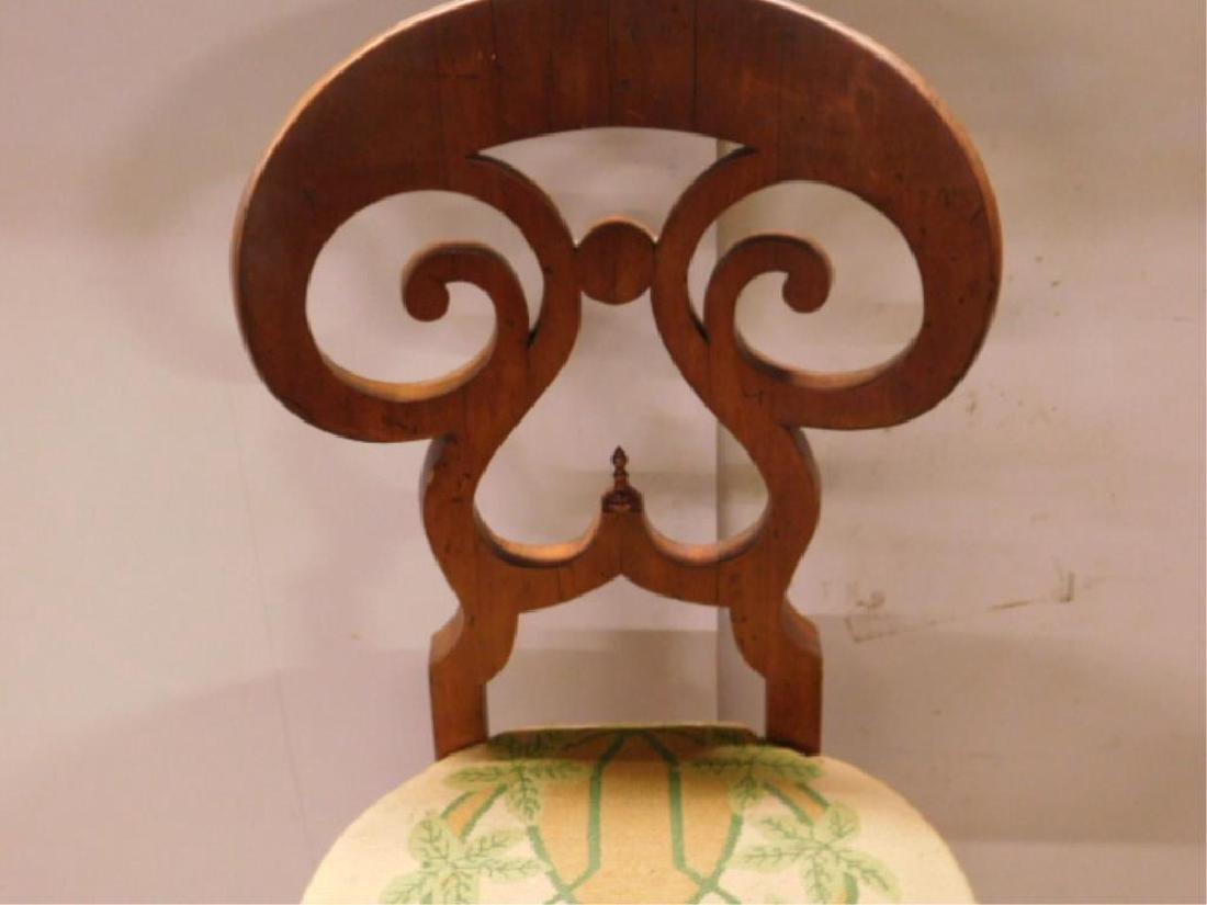 Antique Biedermeier Walnut Side Chair - 2