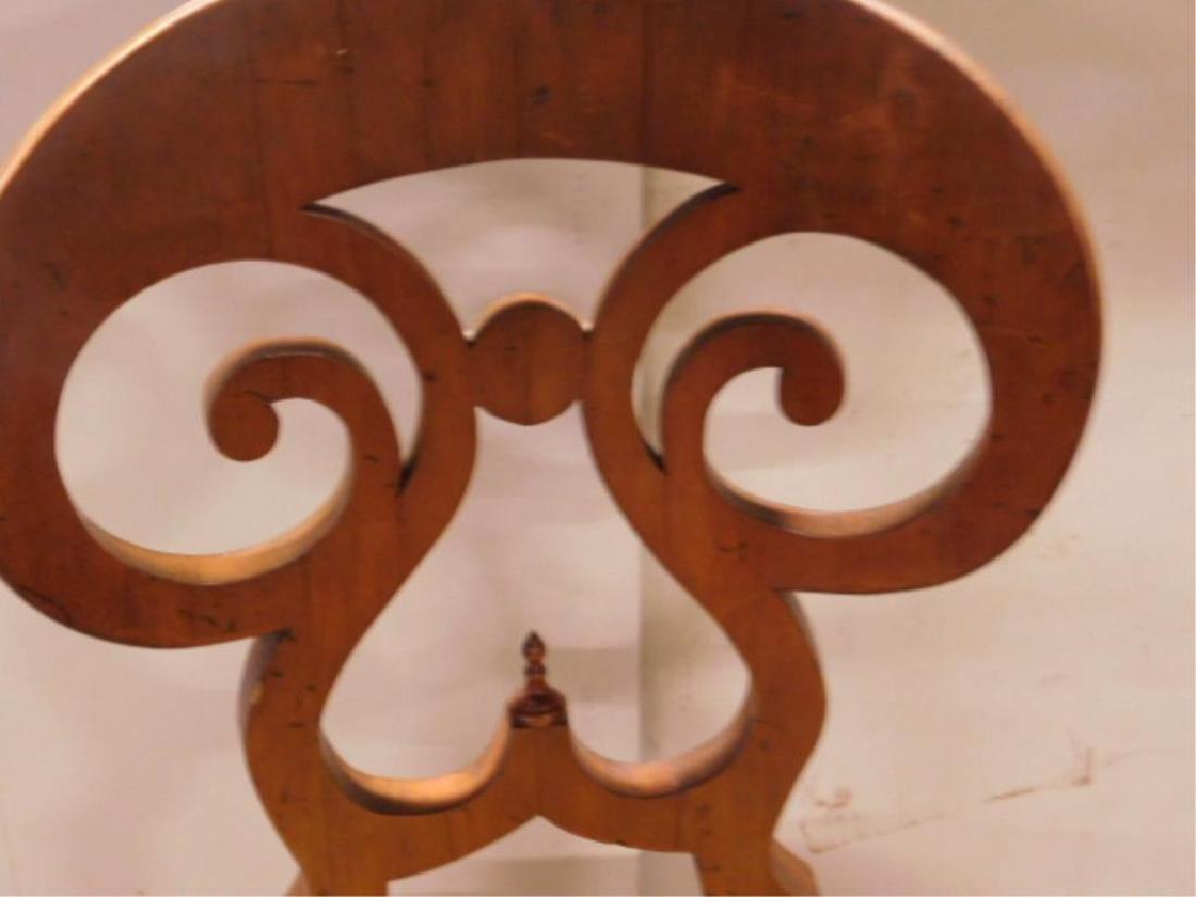 Antique Biedermeier Walnut Side Chair - 4