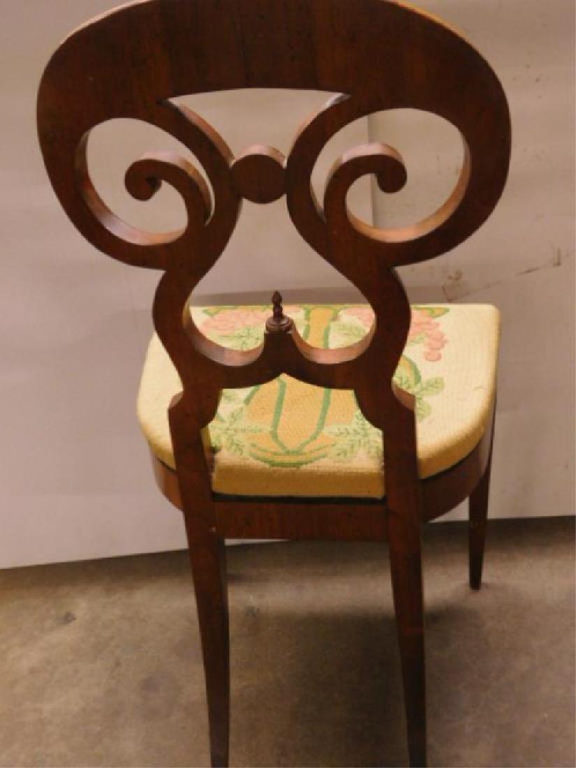 Antique Biedermeier Walnut Side Chair - 6