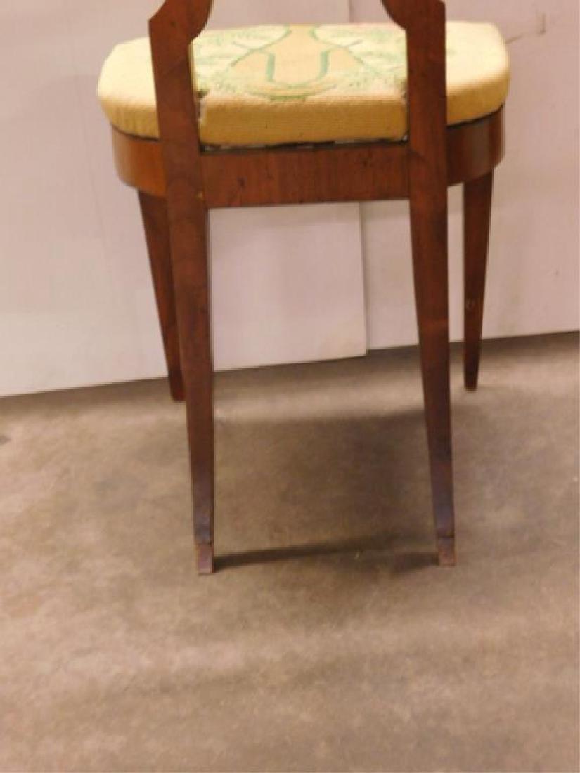 Antique Biedermeier Walnut Side Chair - 7