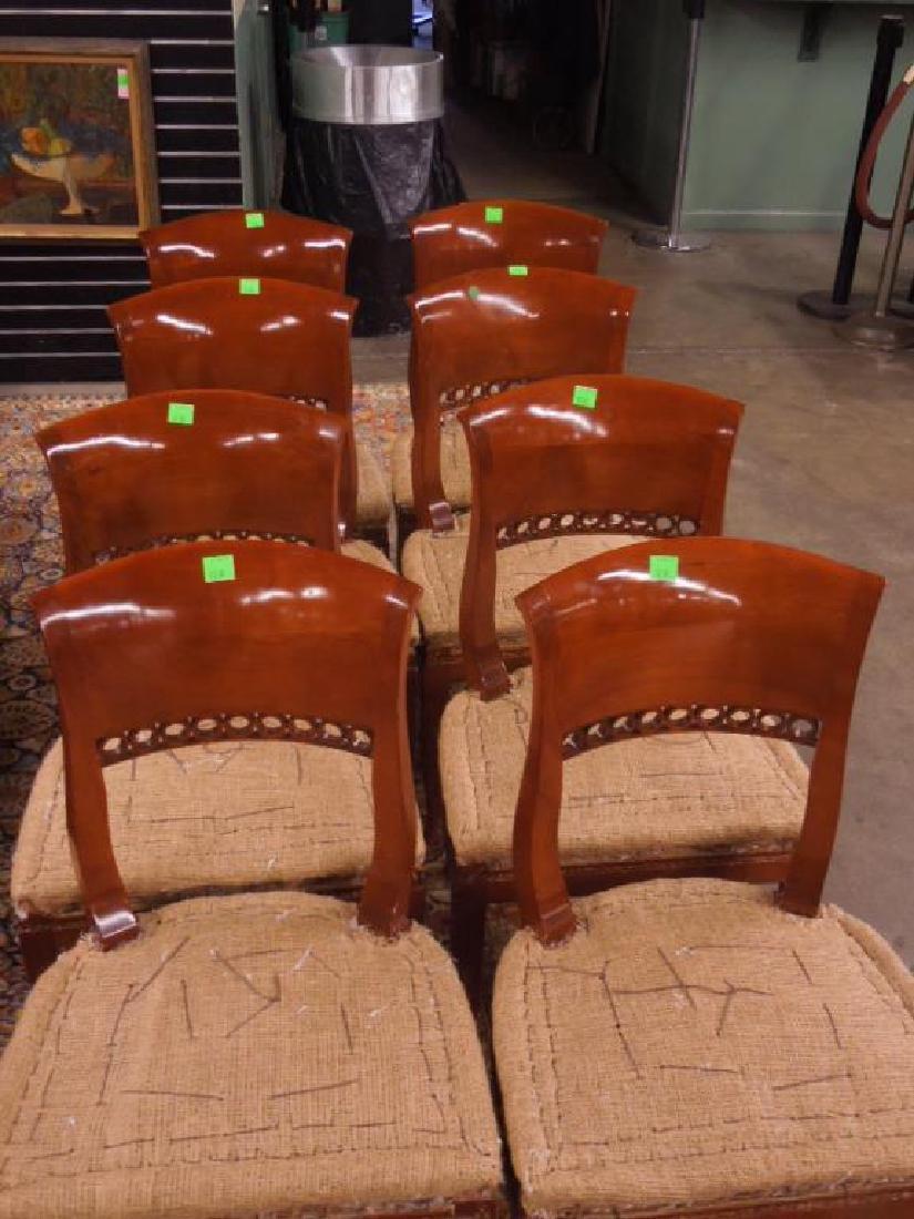 Set 8 Biedermeier Dining Room Chairs